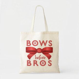 Funny Christmas Bows Before Bros Cute Tote Bag