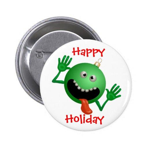Funny Christmas Button Pin
