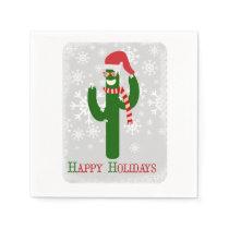 Funny Christmas Cactus Paper Napkin