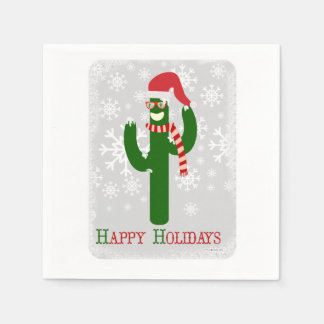 Funny Christmas Cactus Paper Napkin
