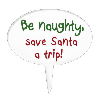 Funny Christmas cake toppers Santa joke gifts