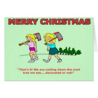 Funny Christmas Card - Blonde joke