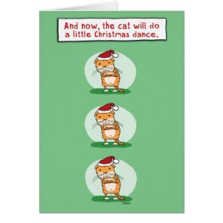Funny Christmas Card: Cat Dance Card