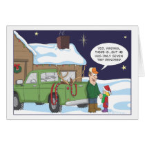 Funny Christmas card, deer hunting humor Card