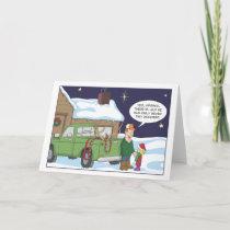 Funny Christmas card, deer hunting humor Holiday Card