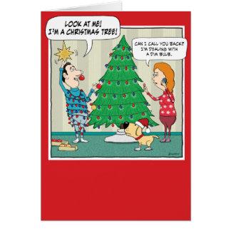 Funny Christmas Card: Dim Bulb Card