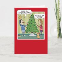 Funny Christmas card: Dim Bulb Holiday Card