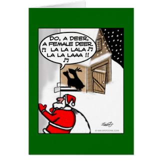 Funny Christmas Card - Do A Deer