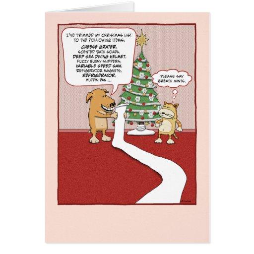 Funny Christmas card Dog s Wish List