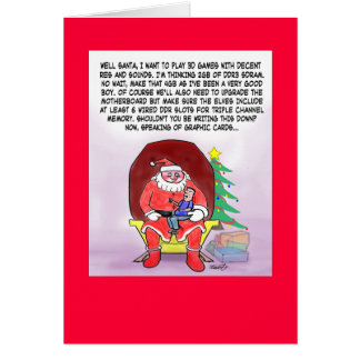 Funny Christmas Card For Gamers