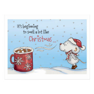 Funny Christmas Card - It's beginning to smell a