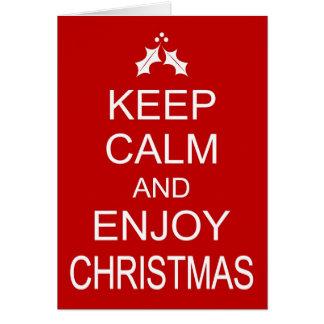 Funny Christmas Card KEEP CALM AND ENJOY CHRISTMAS