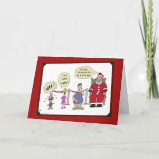 Funny Christmas Card: Long Day card