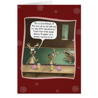 Funny Christmas Card: The Layoff