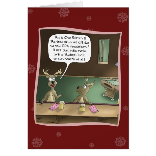 Funny Christmas Card: The Layoff Card