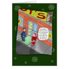 Funny Christmas Cards: Breaking And Entering Card at Zazzle