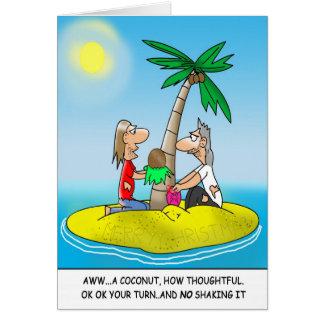 Funny Christmas Cards:Desert Island Christmas