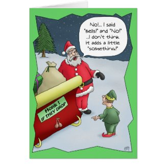 Funny Christmas Cards: Hard of Hearing