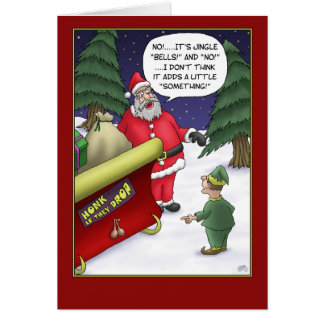 Funny Christmas Cards: Jingle What? Greeting Card