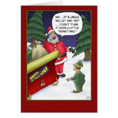 Funny Christmas Cards: Jingle What? Card at Zazzle