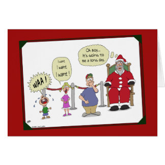 Funny Christmas Cards: Long Day Greeting Card