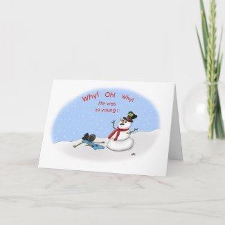 Funny Christmas Cards: Melt-Down card