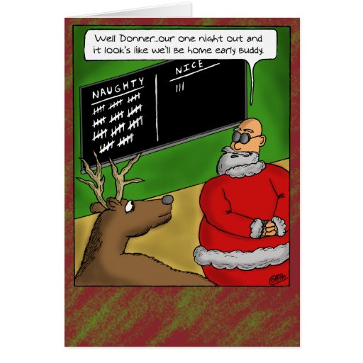 Funny christmas cards naughty and nice zazzle