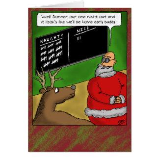 Funny Christmas Cards: Naughty and Nice Card