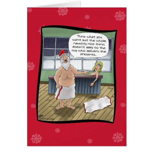 Funny Christmas Cards Naughty and Nice Rules