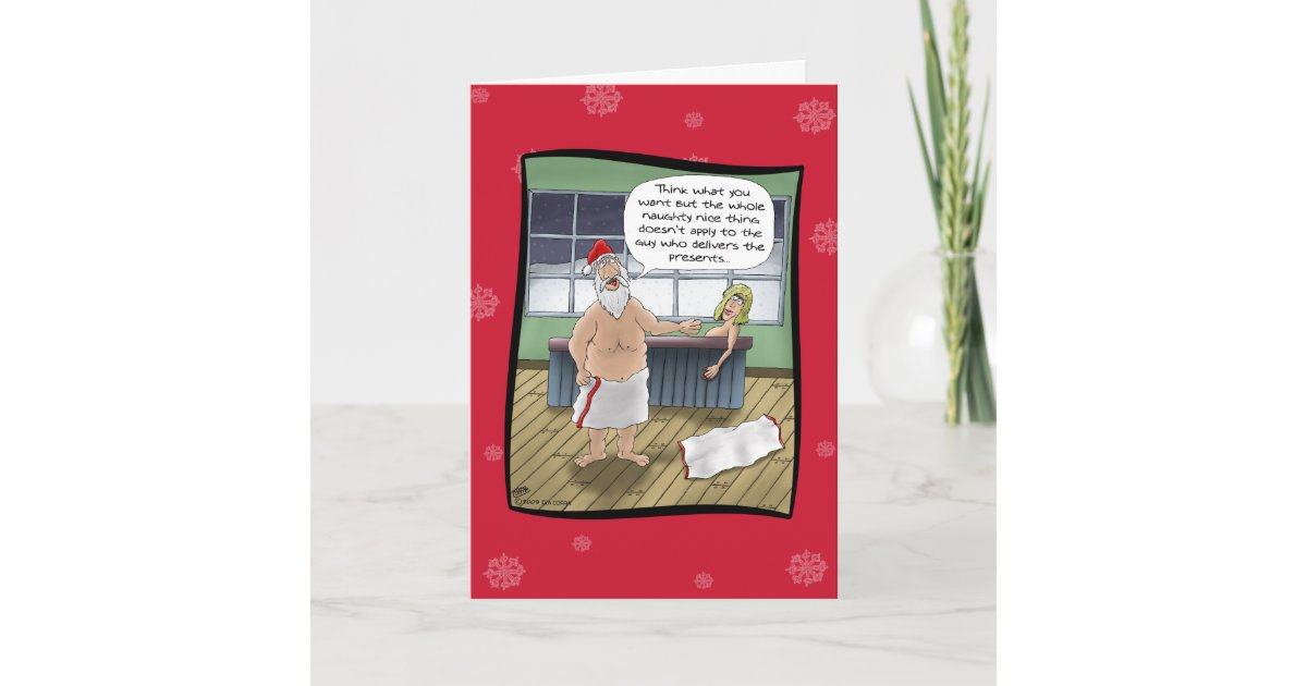 Funny Christmas Cards: Naughty and Nice Rules Holiday Card | Zazzle.com