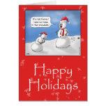 Funny Christmas Cards: No Rocks!