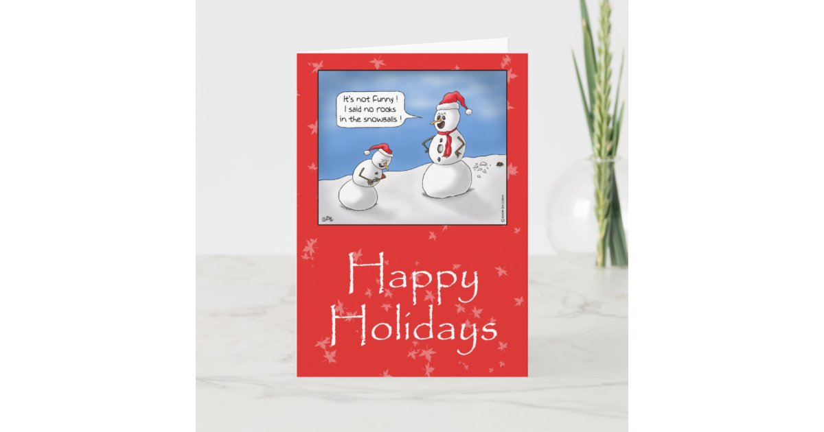Funny Christmas Cards: No Rocks! Holiday Card