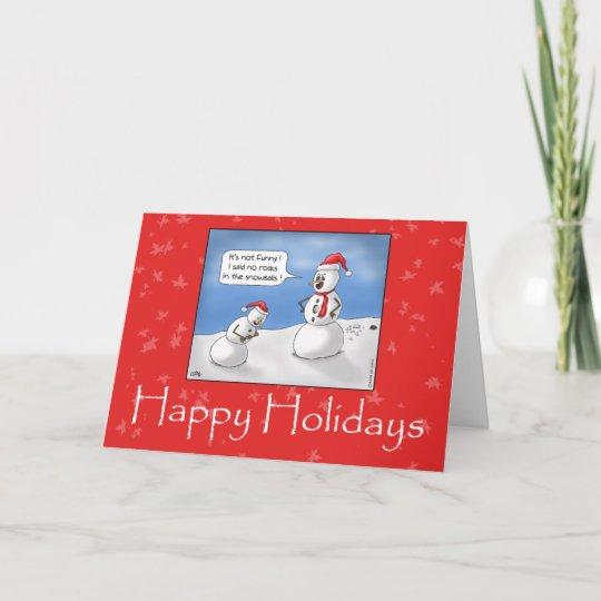 funny christmas cards no rocks holiday card - No Photo Christmas Cards