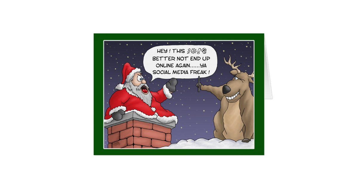 funny christmas cards online post card zazzle. Black Bedroom Furniture Sets. Home Design Ideas