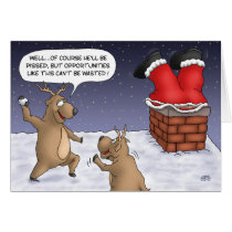 Funny Christmas Cards: Opportunities Card