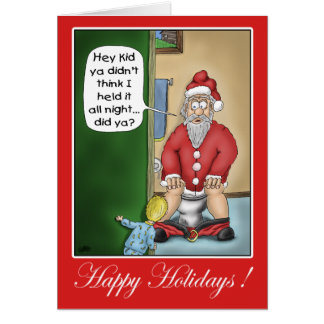 Funny Christmas Cards: Pit Stop Greeting Card