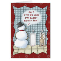 Funny Christmas Cards: Privacy Please Card