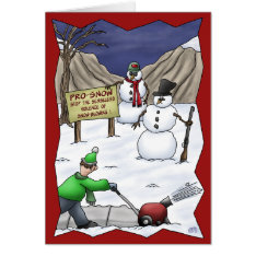 Funny Christmas Cards: Pro-Snow Card at Zazzle