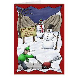 Funny Christmas Cards: Pro-Snow Card