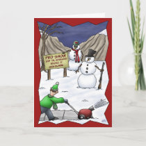 Funny Christmas Cards: Pro-Snow Holiday Card