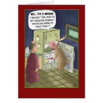 Funny Christmas Cards: Raiding the Fridge