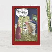 Funny Christmas Cards: Raiding the Fridge Holiday Card