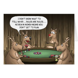Funny Christmas Cards: Reindeer Games