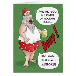 Funny Christmas Cards: Santa Relaxed Greeting Card