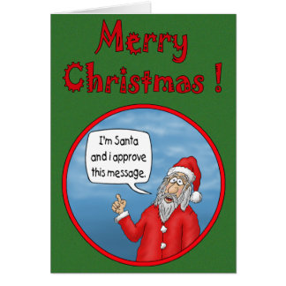 Funny Christmas Cards: Santa's Approval
