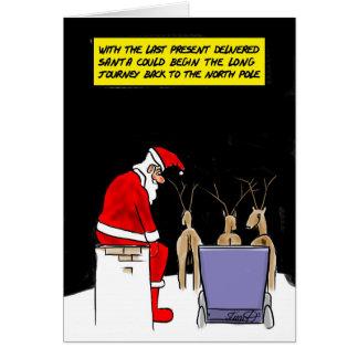 Funny Christmas Cards: Santa's Done Card