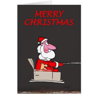Funny Christmas Cards:Santa's little yelper