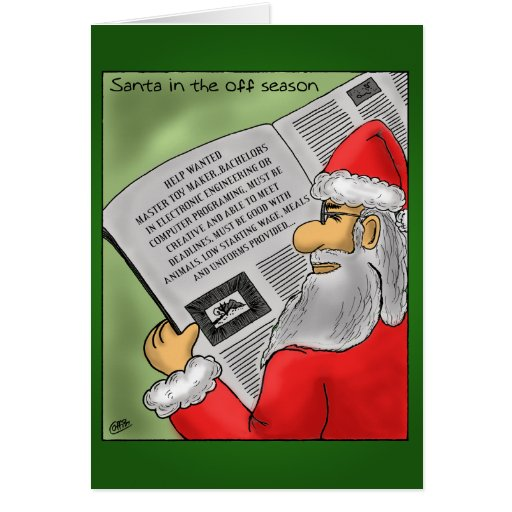 Funny Christmas Cards: Santa's off Season Greeting Card