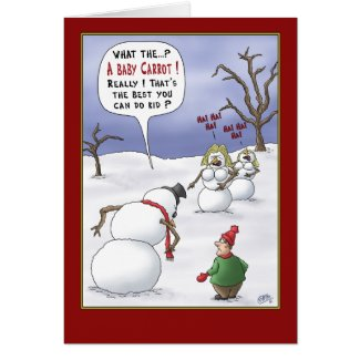 Funny Christmas Cards: Size Matters