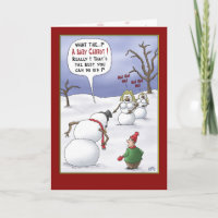 Funny Christmas Cards: Size Matters Holiday Card